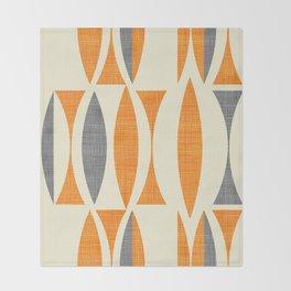 Seventies  orange Throw Blanket