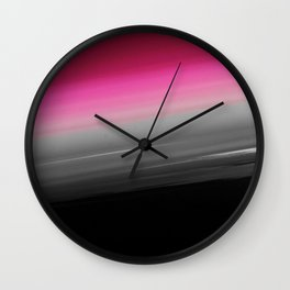 Pink Gray Black Ombre Wall Clock