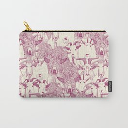 just goats cherry pearl Carry-All Pouch