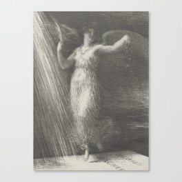 Awakening (Réveil) from the book Richard Wagner, sa vie et ses oeuvres by Adolphe Jullien Henri Fant Canvas Print