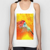 parrot Tank Tops featuring Parrot by Joe Ganech