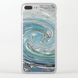 Swirling Water Clear iPhone Case