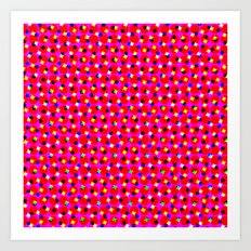 PINK DOT & STAR  Art Print