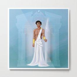 Greek Gods - Zeus Metal Print