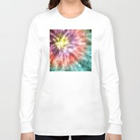 tie dye Long Sleeve T-shirts featuring Color Filled Tie Dye by Phil Perkins