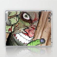 zombie breaking in Laptop & iPad Skin