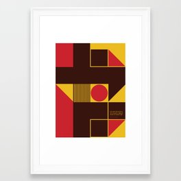 If You Dig a Hole Framed Art Print