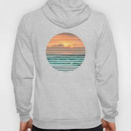 Turquoise Ocean Pink Sunset Hoody