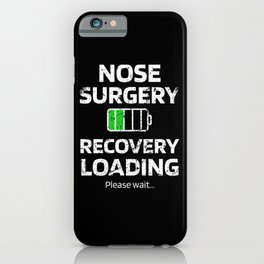 Septoplasty Nose Surgery Plastic Nose Job Recovery iPhone Case