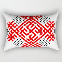 Rodimich - Antlers - Slavic Symbol #1 Rectangular Pillow