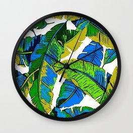 BANANA PALM LEAF PARADISE Wall Clock