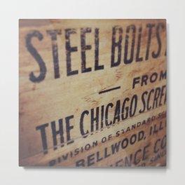 Chicago Wooden Steel Box Metal Print