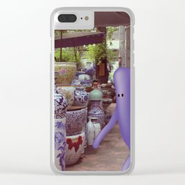 giro al mercato Clear iPhone Case