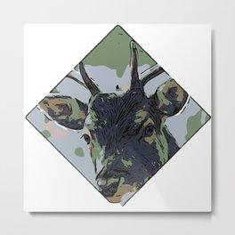 Deer Gr1 Metal Print