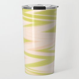 Yellow and Peach Electric Pulse Zigzag Travel Mug