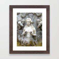 Fountain Sculpture Photography Framed Art Print