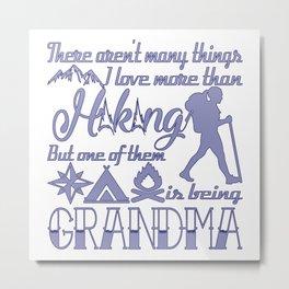 Hiking Grandma Metal Print