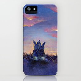 Snuggle Bunnies at Sunset iPhone Case