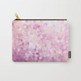Pink purple white paint brushstrokes pattern Carry-All Pouch