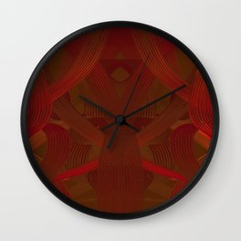 Hoop Dance Reds dpa150607.d1 Wall Clock