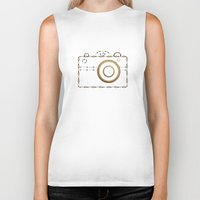 vintage camera Biker Tanks featuring Camera by Little Owl Oddities
