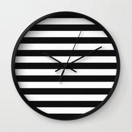 Horizontal Stripe Pattern Wall Clock