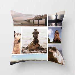 Collage of Rügen Throw Pillow
