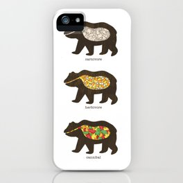The Eating Habits of Bears iPhone Case