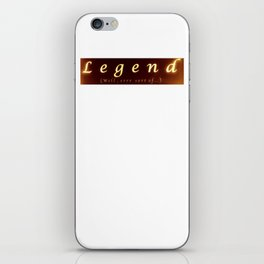 legend 3 iPhone Skin