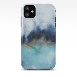 Mystic abstract watercolor iPhone Case