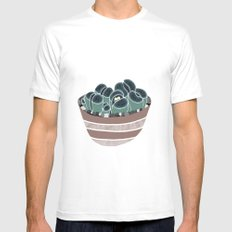 Lithops White Mens Fitted Tee MEDIUM