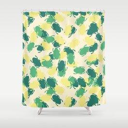 Beetles Design Shower Curtain