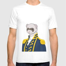 Captain Ferret MEDIUM White Mens Fitted Tee