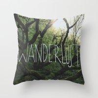 wanderlust Throw Pillows featuring Wanderlust by Leah Flores