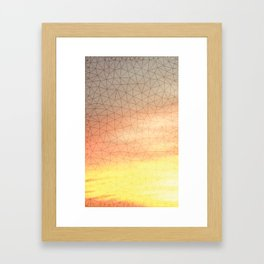 Montage Mountain Sunset Framed Art Print