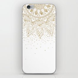 Elegant Gold Mandala Confetti Design iPhone Skin