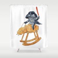 darth Shower Curtains featuring Darth Vader by gunberk