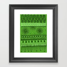 Yzor pattern 007 green Framed Art Print