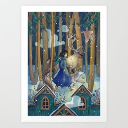 Key and Candle Art Print