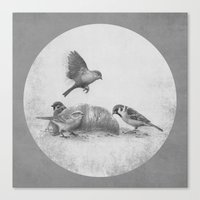 kindle Canvas Prints featuring Parisian Sparrows  by Terry Fan