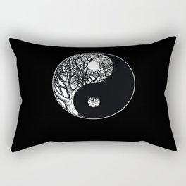 Ying Yang Meditation Rectangular Pillow