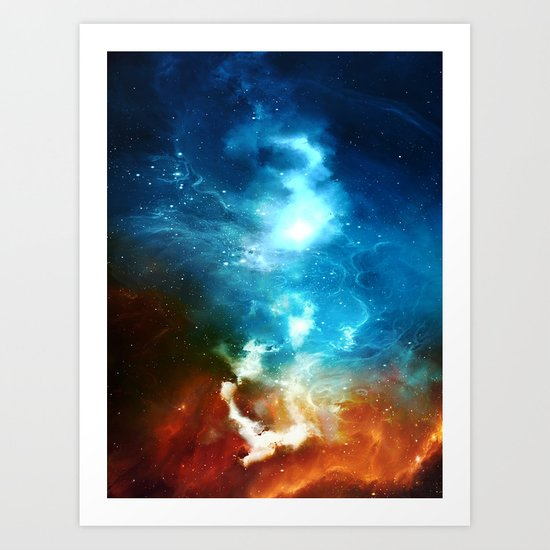 Through the Skies Art Print