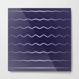 Blue and soft waves Metal Print
