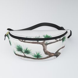 green pine tree painting Fanny Pack
