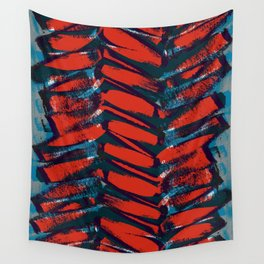 Red and Blue brushstrokes - Sarah Bagshaw Wall Tapestry