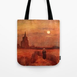 The Old Tower in the Fields by Vincent van Gogh Tote Bag