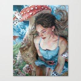Alice in Wonderland, Portrait of Alice Canvas Print