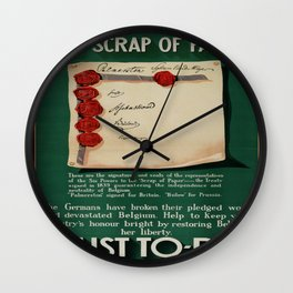 Vintage poster - The Scrap of Paper Wall Clock