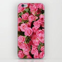 Pink Rose Floral Pattern iPhone Skin