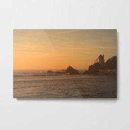 Sunset in the beach in Biarritz Metal Print